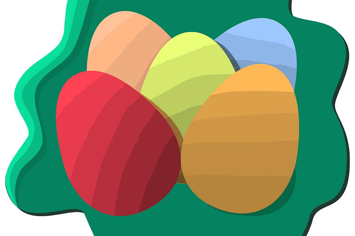 Easter colored eggs example image 1