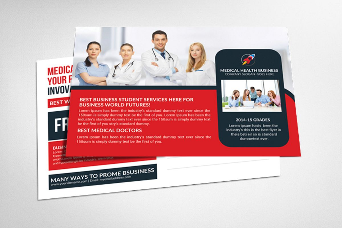 Medical Postcard Template example image 1