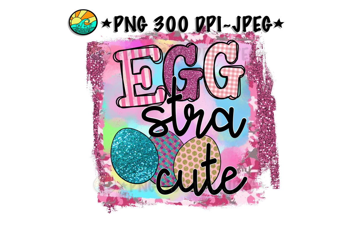 EGG stra cute - Easter - PNG for Sublimation example image 1