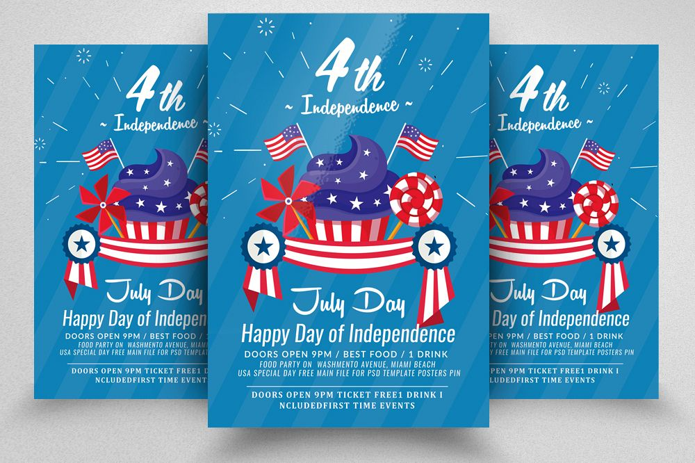 Happy Independence Day Flyer example image 1