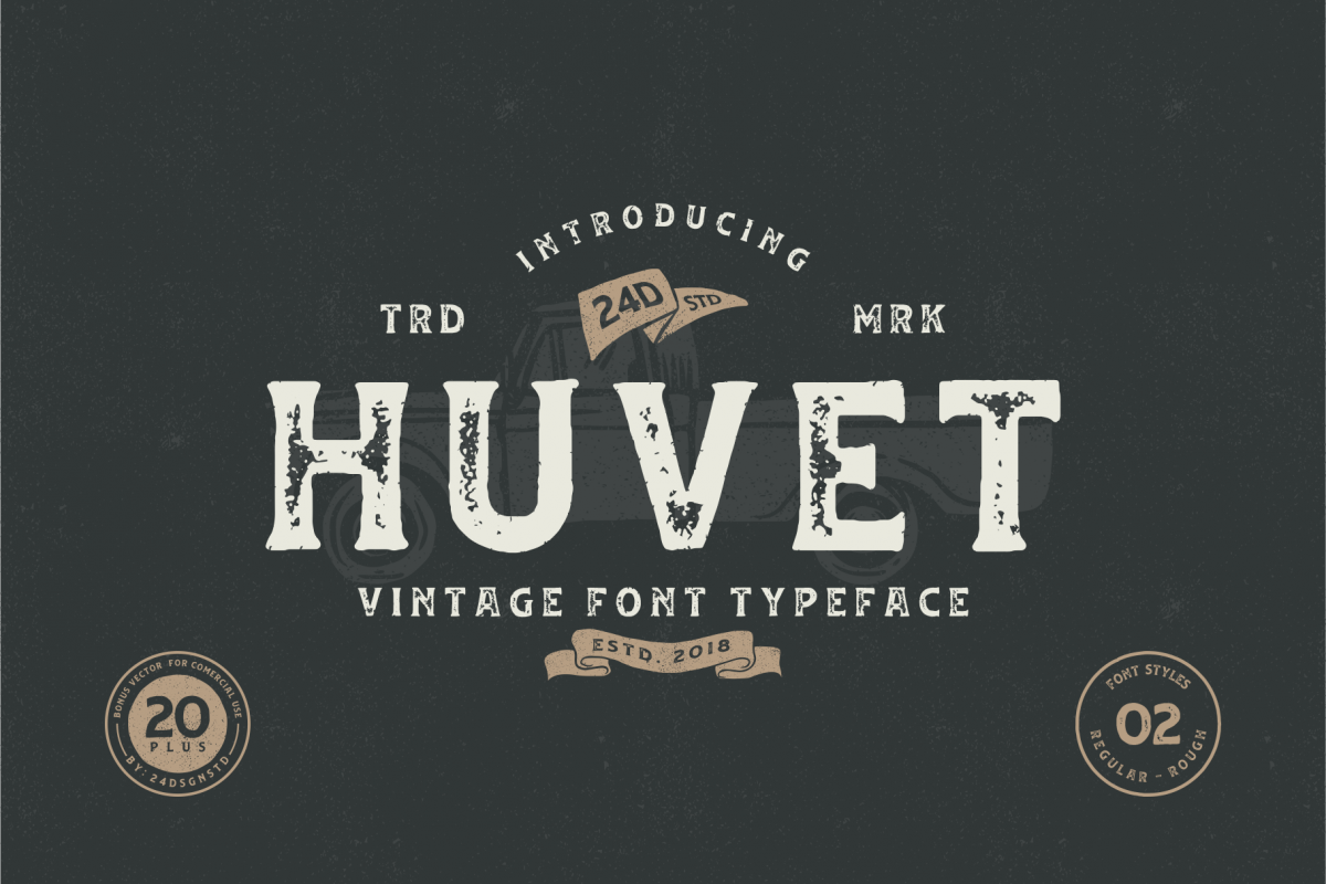 Huvet Typeface example image 1