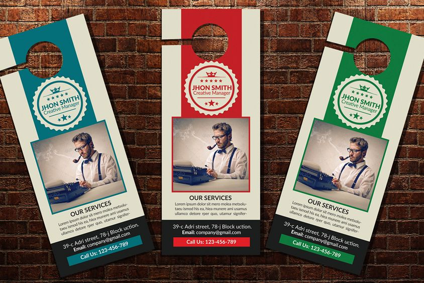 Business Editor Door Hangers example image 1