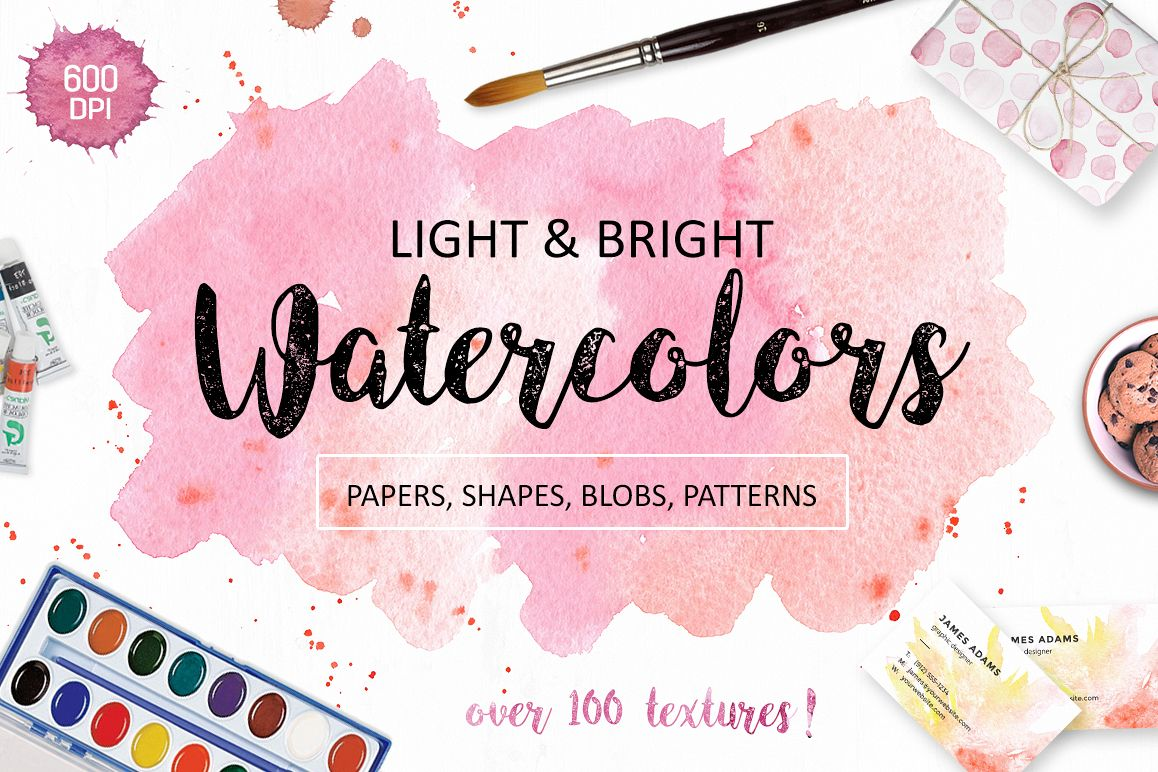 Watercolor Textures. Light & Bright example image 1