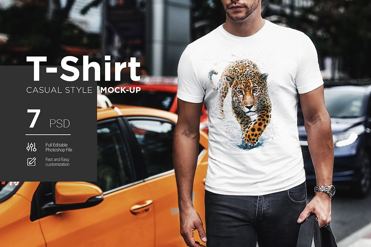 T-Shirt Mock-Up Casual Style example image 1