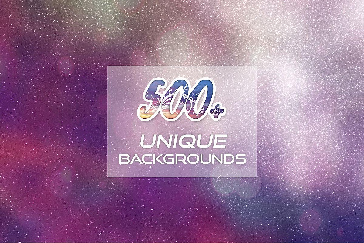 500 Unique Backgrounds example image 1