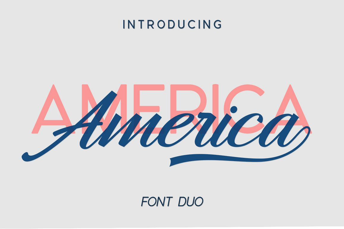 America Font Duo example image 1