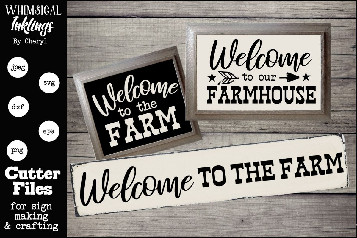 Welcome To The Farm TRIO SVG SET example image 1
