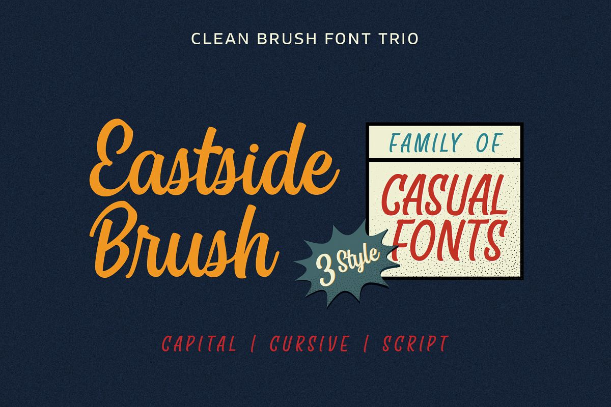 East Sid Brush - Casual Font Trio example image 1