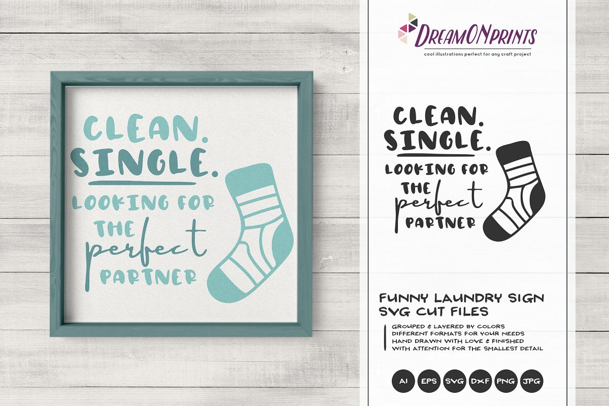 Funny Laundry Sign SVG   Single Sock SVG