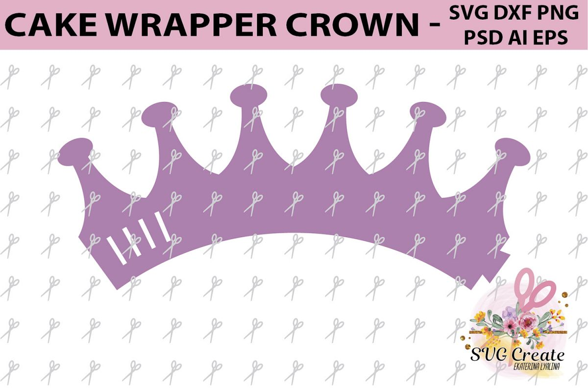 Cupcake wrappers template crown cover | Design Bundles