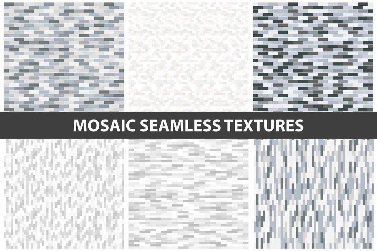 Mosaic wall textures - seamless. example image 1