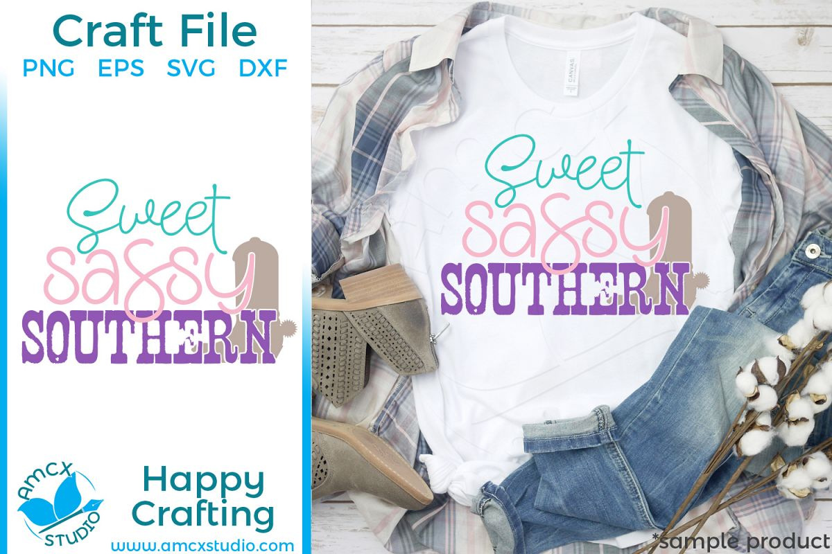 Sweet, Sassy, Southern - Country Girl SVG File example image 1