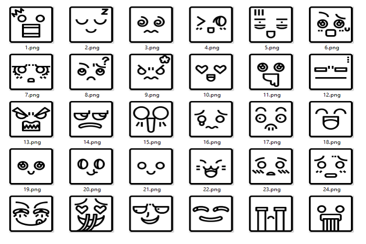 Facial expression linear example image 1