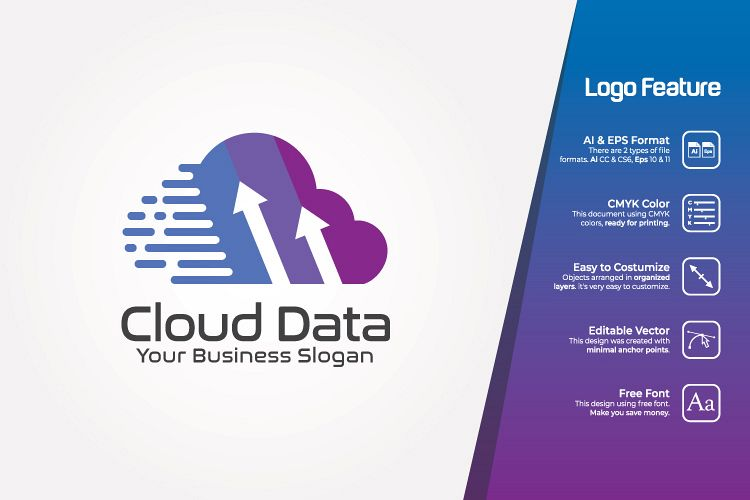 Cloud Data Logo Template example image 1