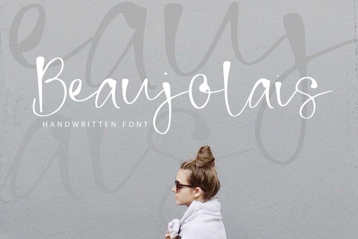 Beaujolais | Handwritten Font example image 1
