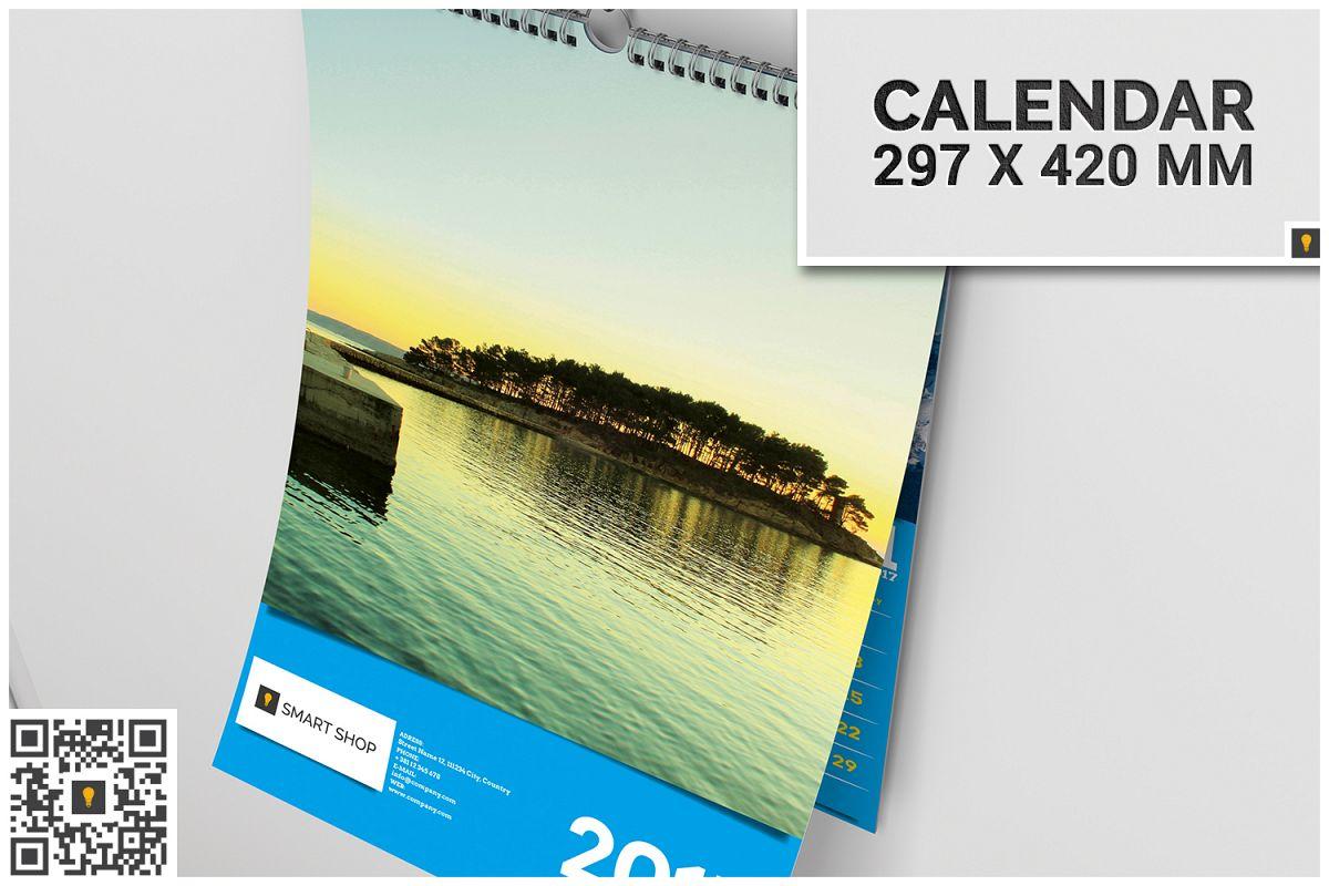 2017 Wall Calendar example image 1