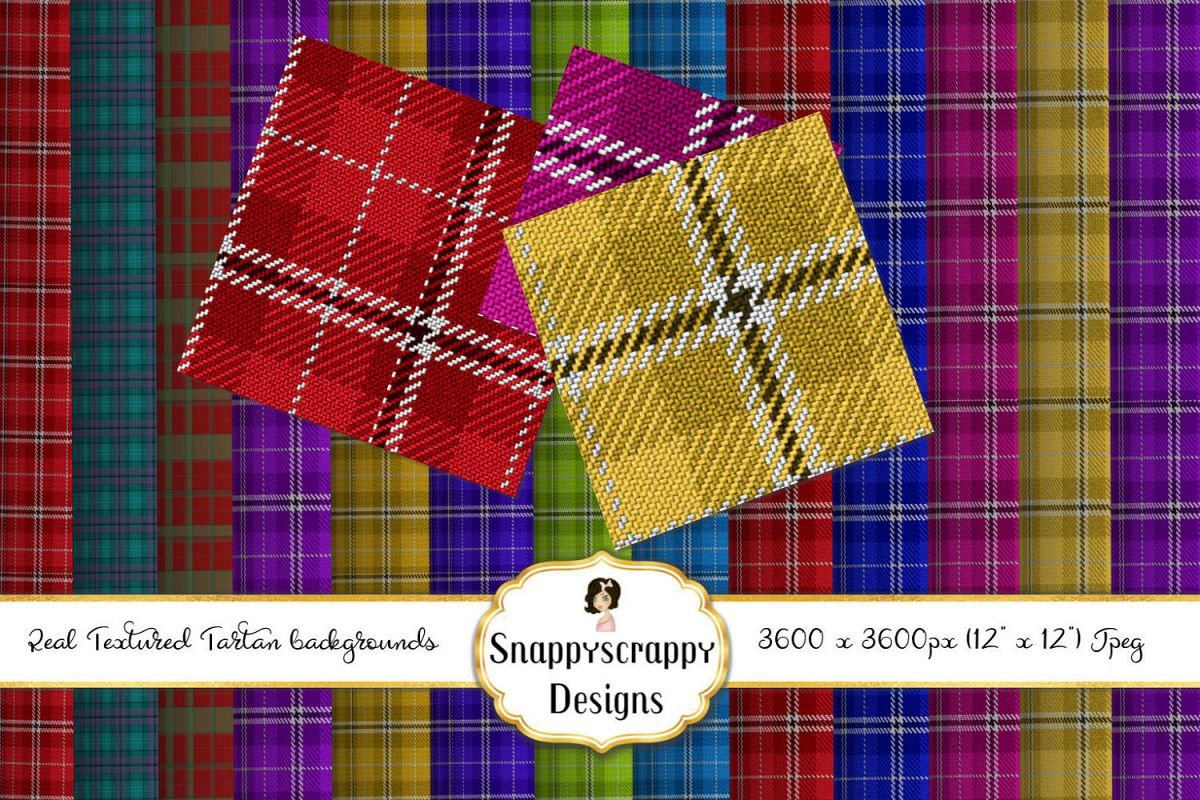 Textured Tartan Background Papers example image 1