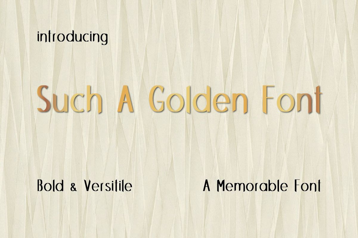 Such A Golden Font example image 1