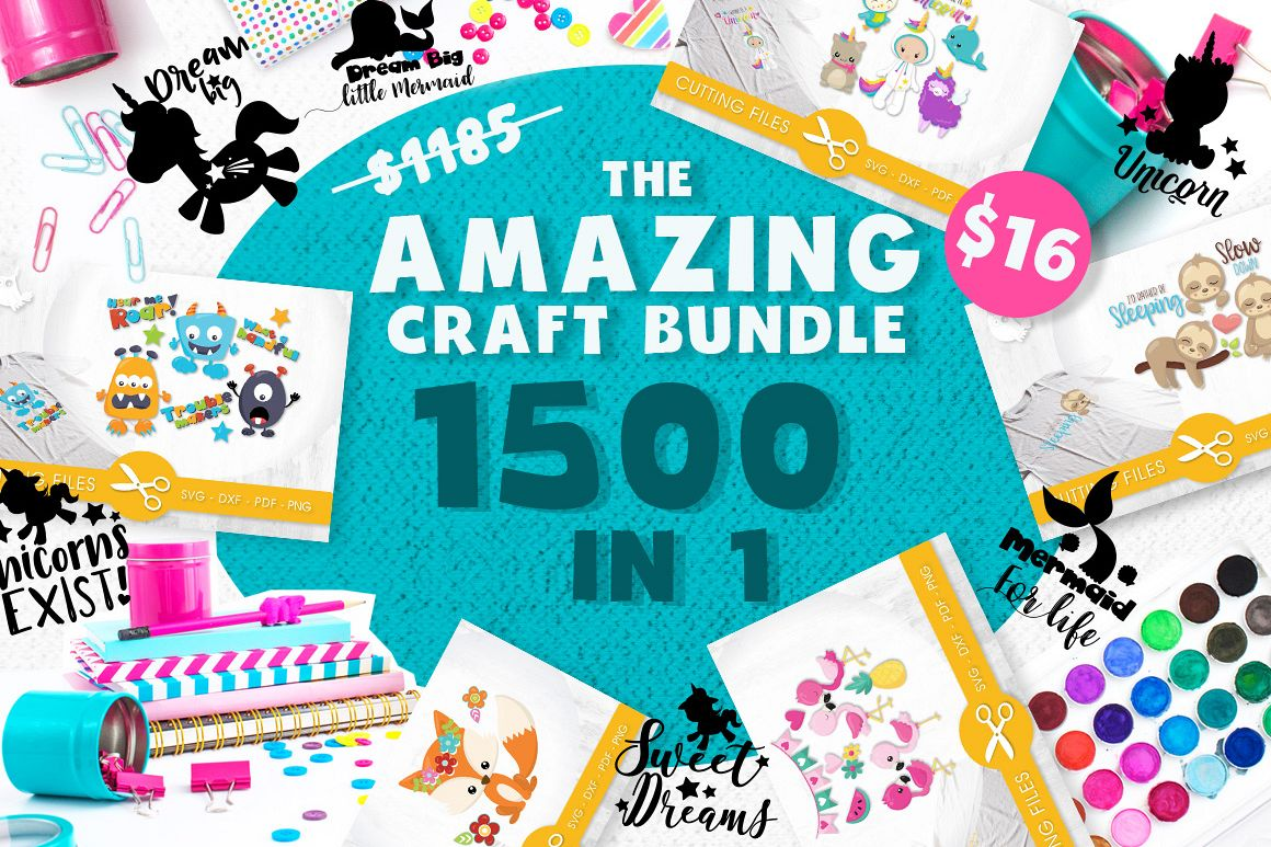 The AMAZING CRAFT BUNDLE, 1500 in 1, cutting file svg, dxf,