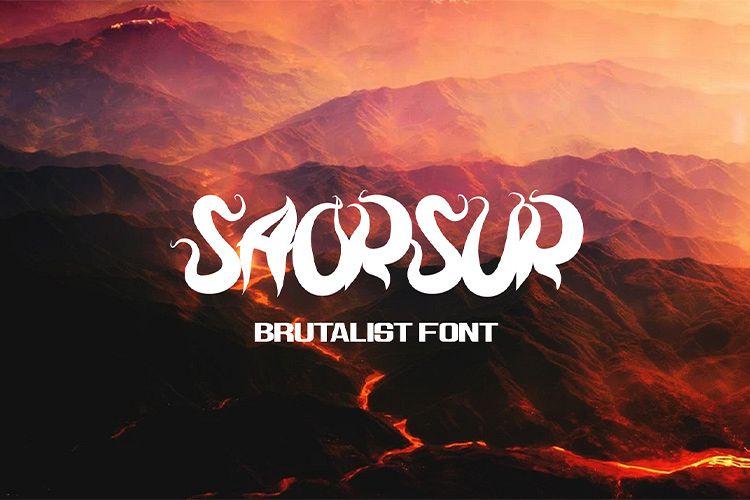SAORSUR || BRUTALIST FONT example image 1