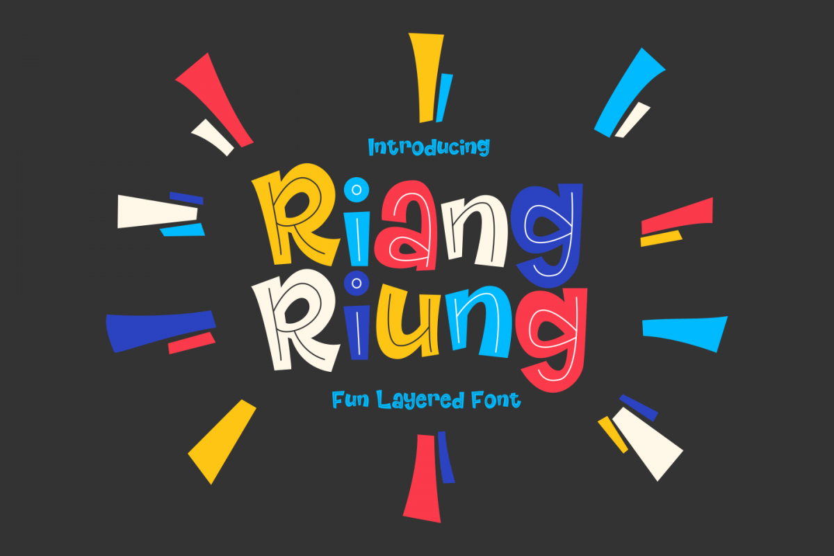 Riangriung - Fun Layered Font example image 1