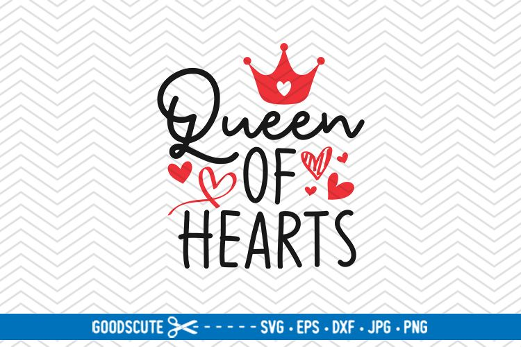 Queen of Hearts - SVG DXF JPG PNG EPS example image 1