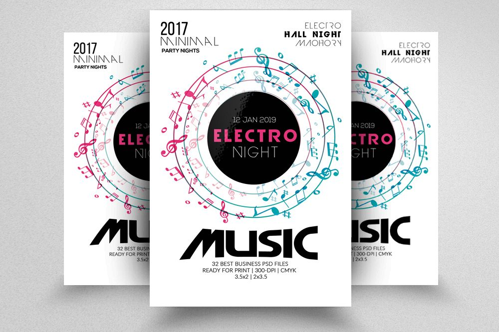 Techno Music Party Flyer