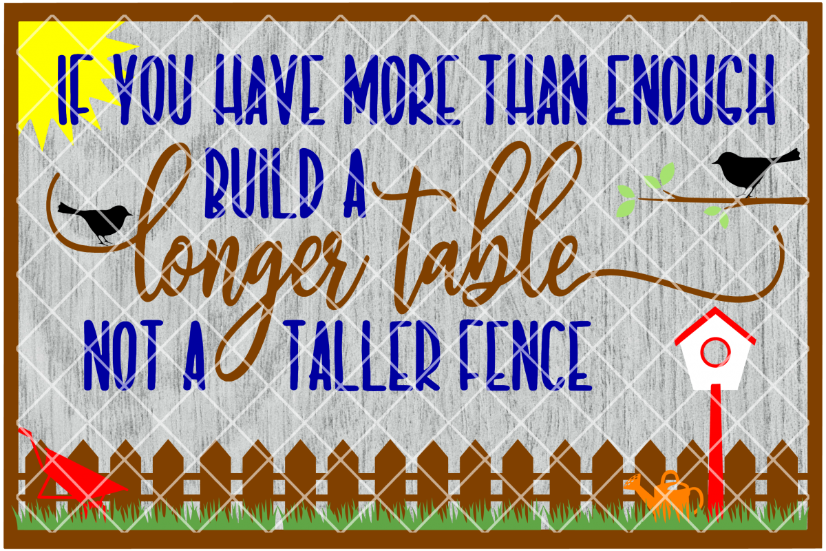 Build a Longer Table Printable with BONUS SVG FILE example image 1