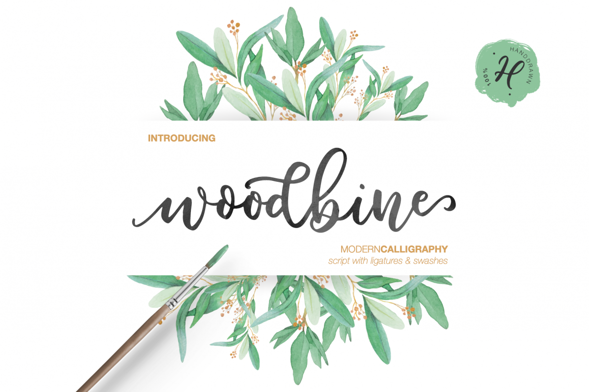 WOODBINE SCRIPT TRIO example image 1