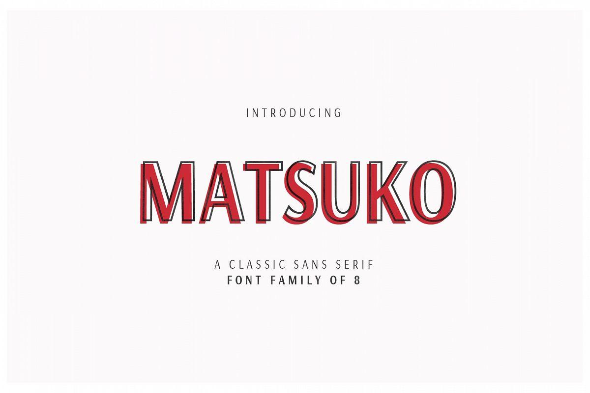 MATSUKO | A CLASSIC FONT FAMILY example image 1