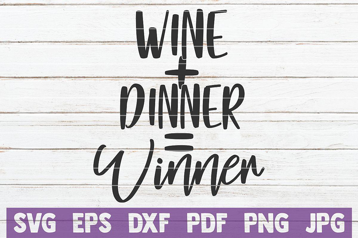 Wine Plus Dinner Equal Winner example image 1