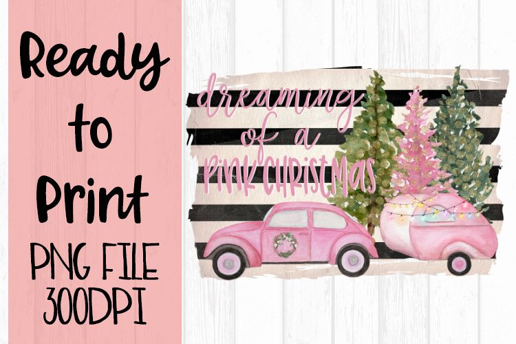 Dreaming of a Pink Christmas Ready to Print example image 1
