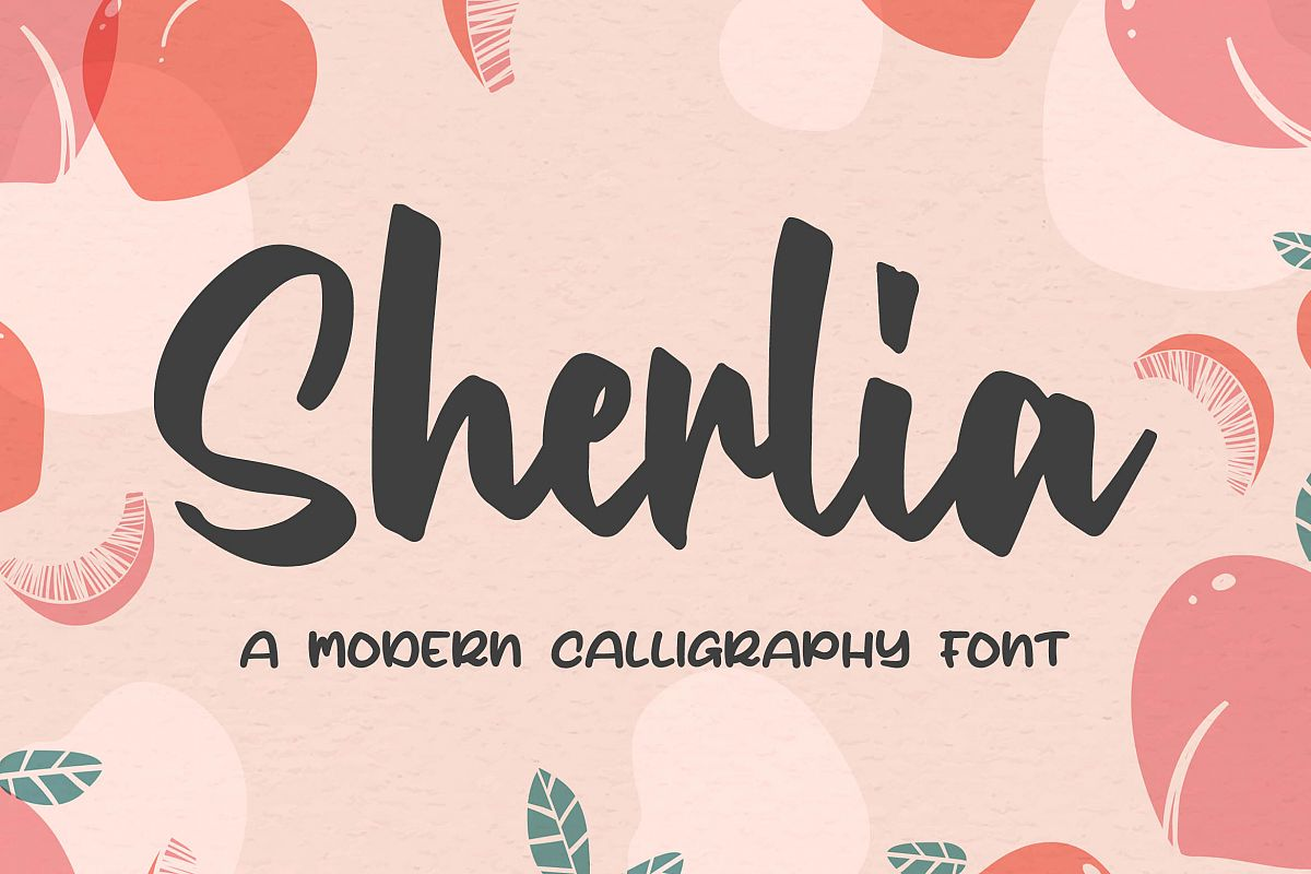Sherlia a Modern Calligraphy Font example image 1