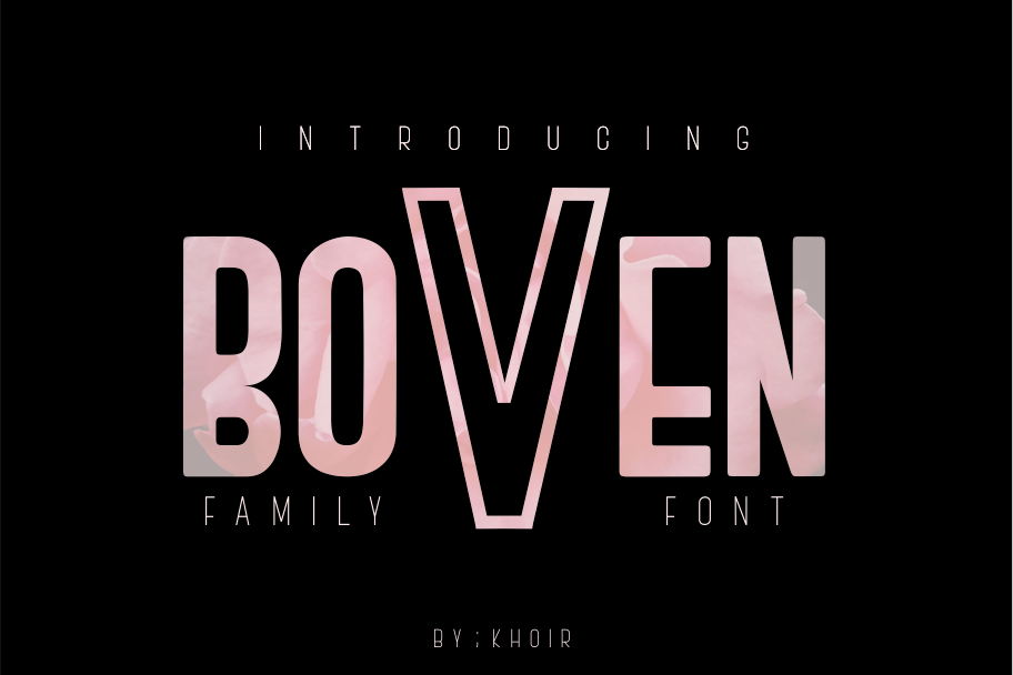 BOVEN FAMILY FONT example image 1