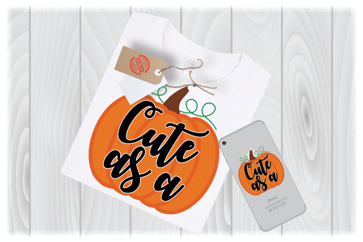 Cute as a Pumpkin SVG Files for Cricut Designs example image 1