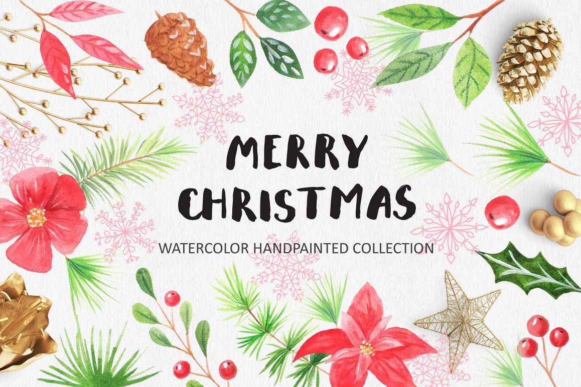 Watercolor Christmas Design Pack example image 1