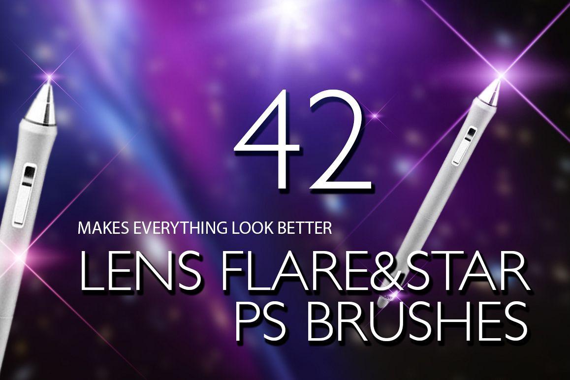 Lens Flare & Stars Photoshop Brushes example image 1
