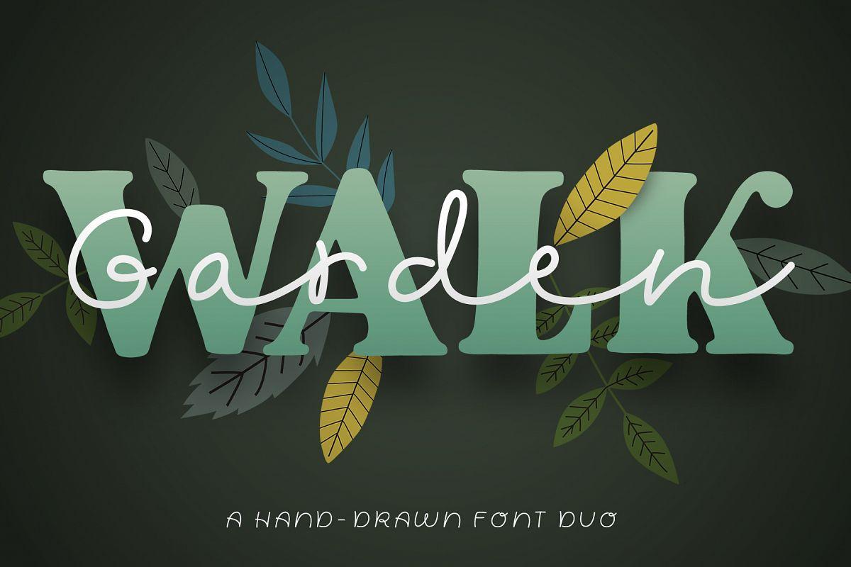 Garden Walk Font Duo example image 1