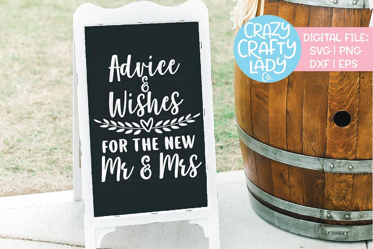 Advice & Wishes for New Mr & Mrs SVG DXF EPS PNG Cut File example image 1