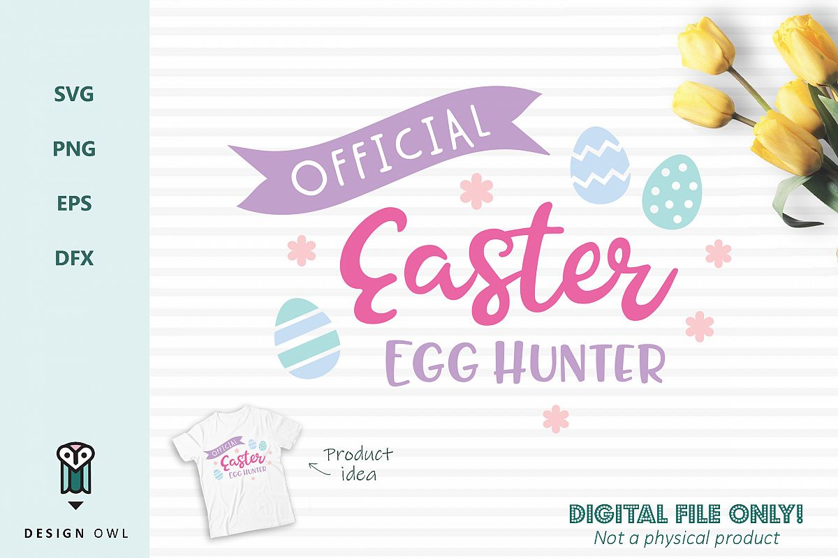 Official Easter Egg Hunter - Easter SVG cut file example image 1