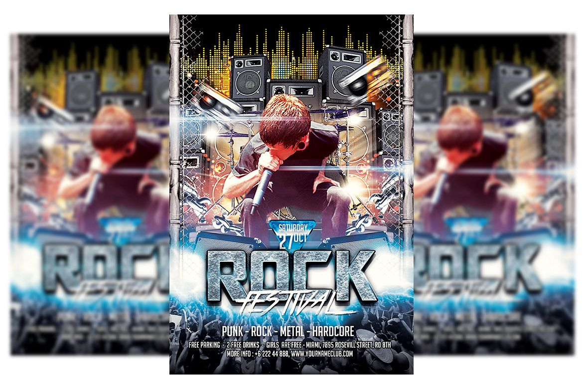 Rock Concert Flyer Template example image 1