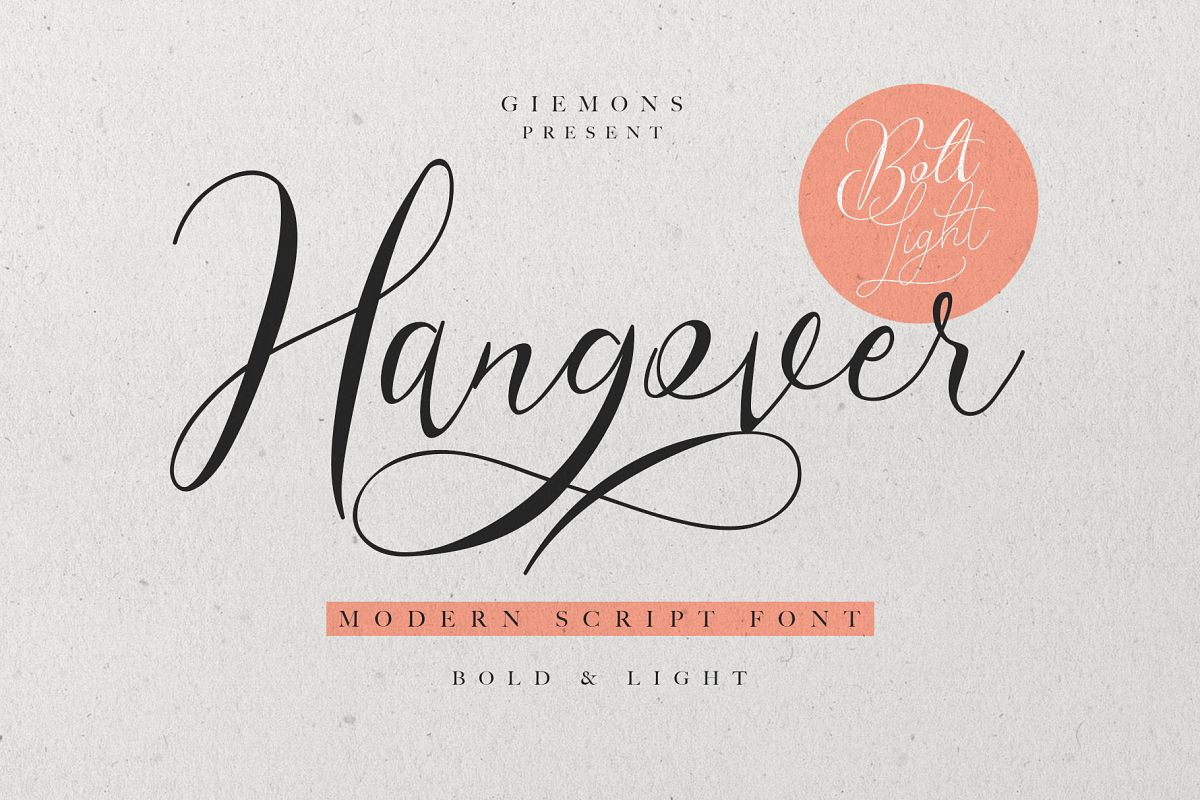 Hangover Script - 2 Font example image 1
