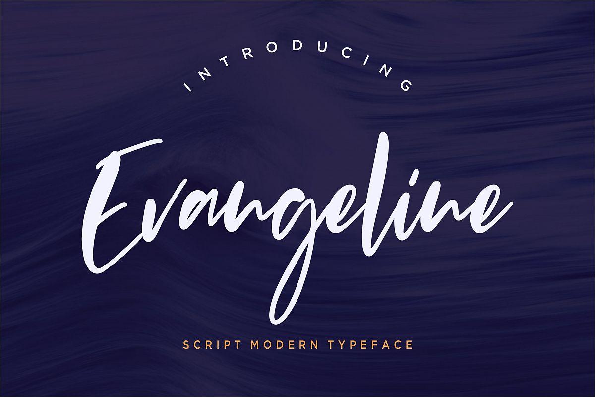 Evangeline Modern Script example image 1
