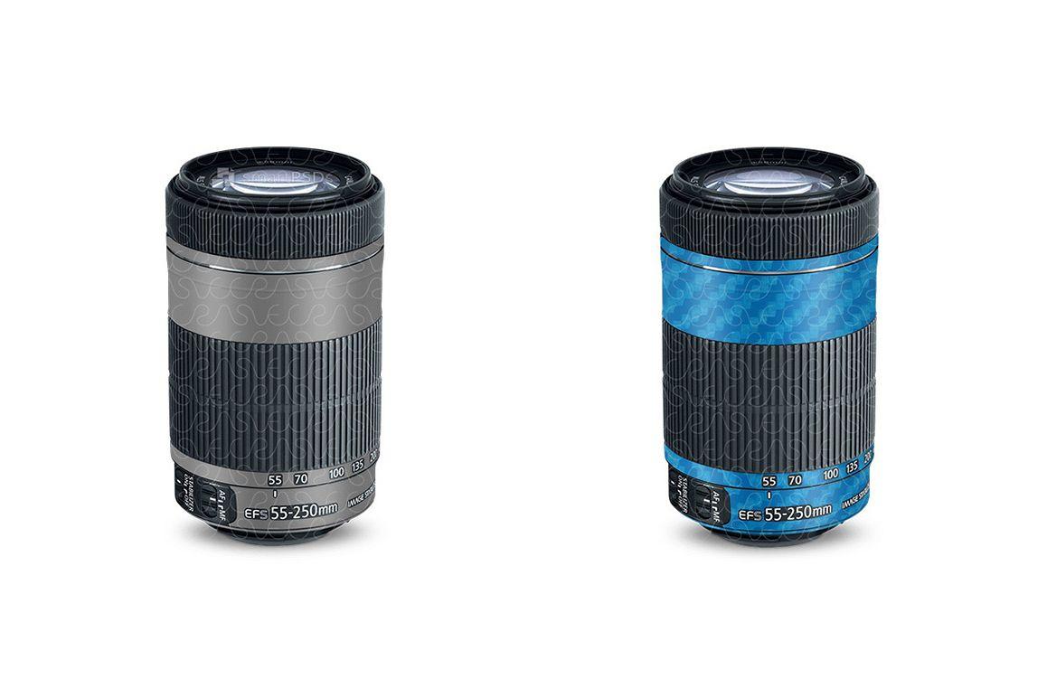 Canon EF-S 55-250mm 2013 Lens Vinyl Skin Design Template example image 1