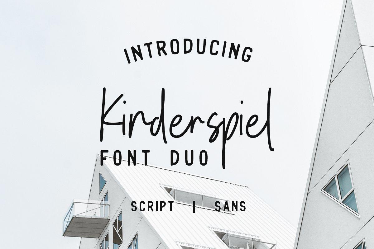 Kinderspiel - Font Duo example image 1