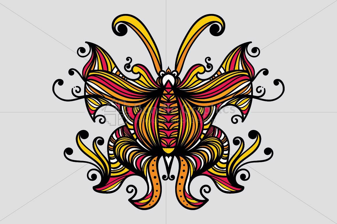 Symmetrical Linear Butterfly example image 1