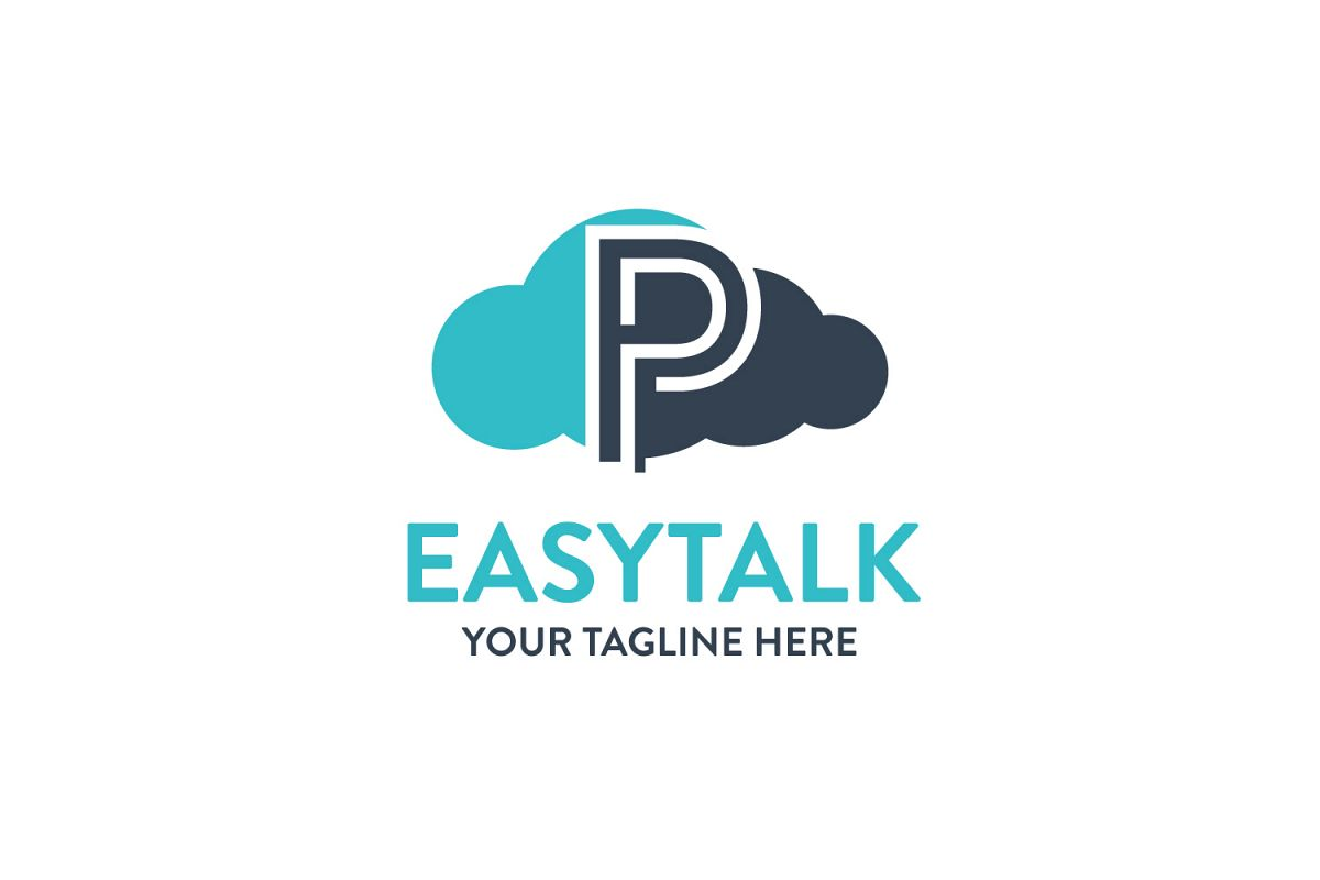 P letter Sky logo example image 1