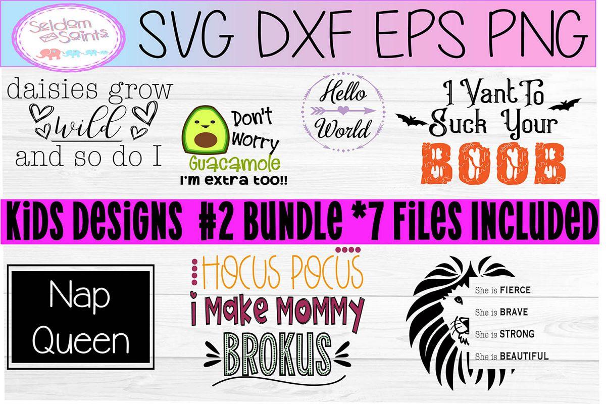 Kids Bundle #2 SVG PNG DXF EPS example image 1
