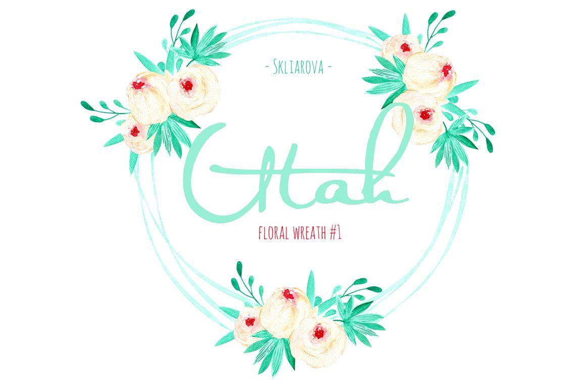 """Utah"". Floral mint wreath # 1 example image 1"