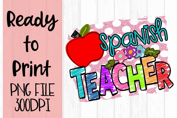 Spanish Teacher Bright Ready to Print example image 1